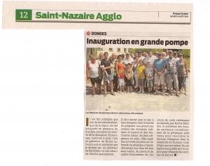 Presse Océan - Inauguration du cours Niglo