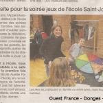 Ouest France - Soirée jeux