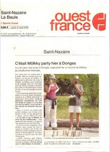 Ouest France - Mölkky Party