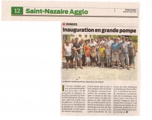 Presse Océan - Inauguration du cours Niglo